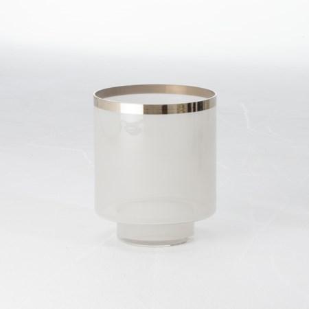 Eve Vase - Grey/Silver Metallic - Small
