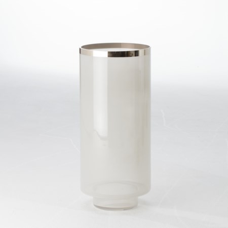 Eve Vase - Grey/Silver Metallic - Large
