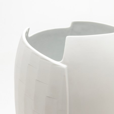 Birch Vase - Matte White - Large