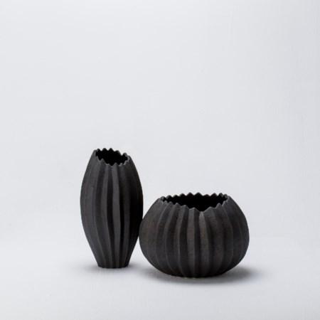 Bloom Vase - Lava Grey