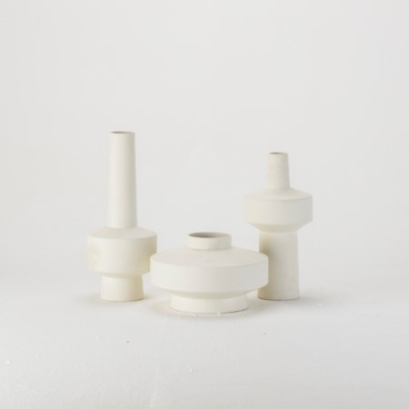 Stack Vase - Low - White