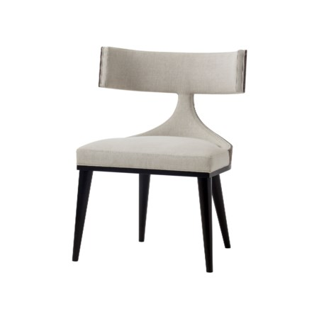 Oscar Dining Chair - Zebrano Back / Norman Ivory