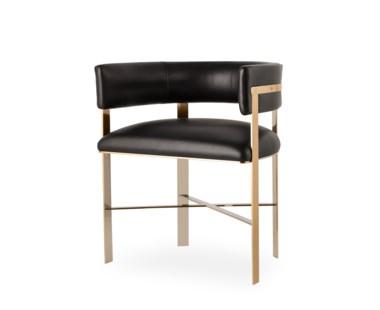 Art Dining Chair - Mirrored Brass - Grade 1