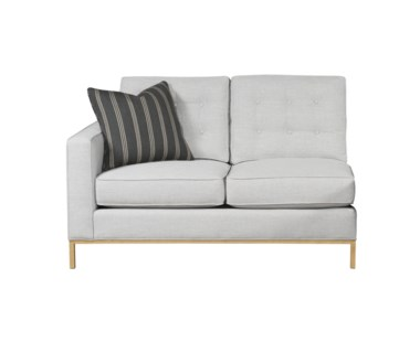 Copeland Loveseat - Left Arm Facing / Metal Base - Grade 1