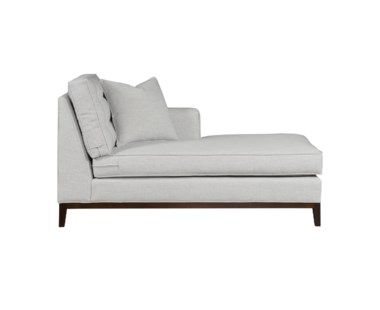 Copeland Chaise - Right Arm Facing / Wood Base - Grade 1
