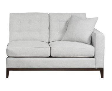 Copeland Loveseat - Right Arm Facing / Wood Base - Grade 1
