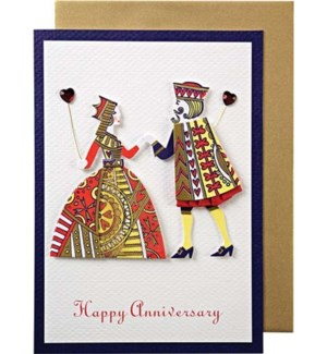 King & Queen Anniversary Card-15-3035A