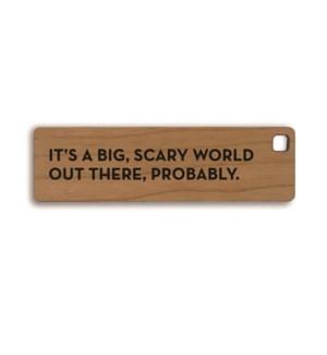 Scary World Key Tag