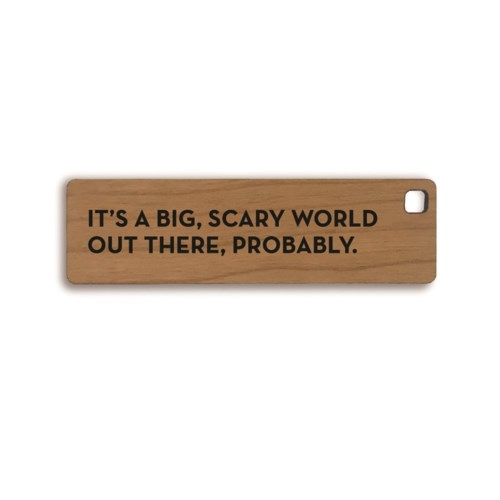 Scary World Key Tag
