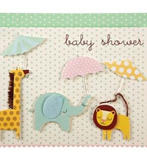 Animals With Umbrellas Card-15-3161C