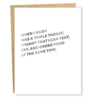 Self Care-triple threat