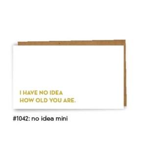 No Idea Mini Card