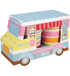 Ice Cream Van W/Cups N Spoons-45-0294