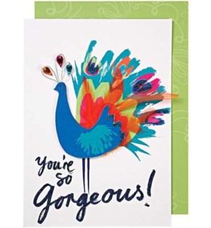 Gorgeous Peacock Card-15-3239H