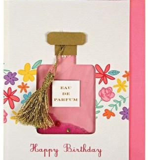 Perfume Bottle Shaker Card-15-3285H