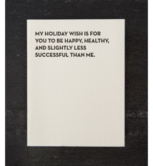 Moment of truth holiday wish w/ gold env