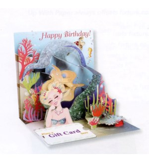 Mermaid's Birthday Gift Card