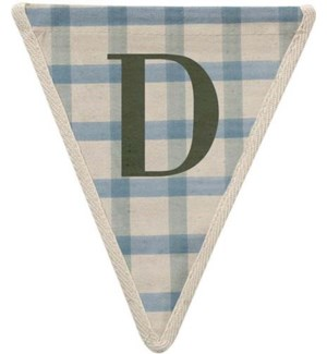 Checked D Pennant-99-D1