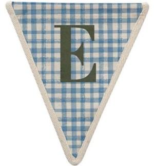 Blue Check E Pennant-99-E2
