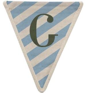 Blue Diagonal G Pennant-99-G1