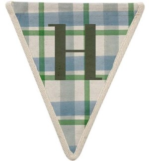 Checked H Pennant-99-H1