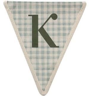 Checked K Pennant-99-K1