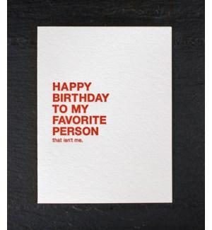 Make a wish favorite person