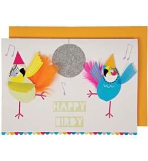Happy Birdy Greeting Card-15-3358H