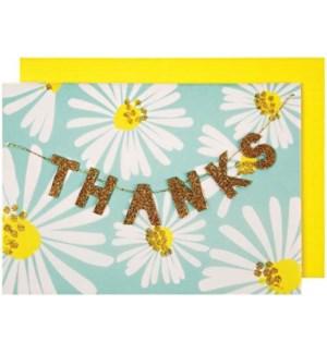 Thanks Garland Greeting Card-15-3365T