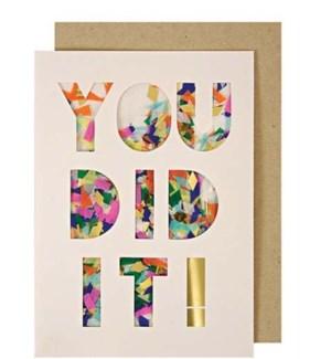 You Did It! Confetti Shaker Card-15-3424C