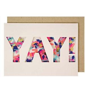 Yay Confetti Shaker Card-15-3429L