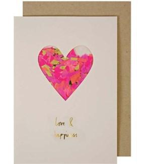 Heart Confetti Shaker Card-15-3431A
