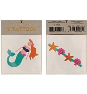 Mermaid & Sea Shells Tattoos-45-1702