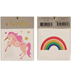 Unicorn & Rainbow Tattoos-45-1705