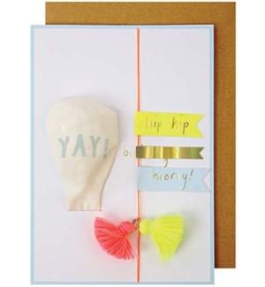 Yay Balloon Greeting Card-16-0114H