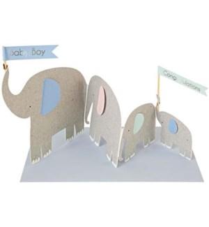 Elephants Concertina Card-16-0118C