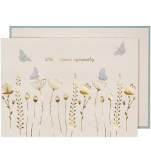 Sympathy Flowers Butterflies-15-3457Y
