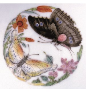 Famille Rose Butterfly Bowl