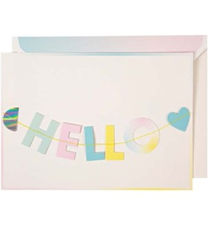 Hello Little One Garland Card-16-0133C