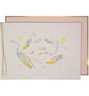 Sympathy Feather Card-15-3444Y