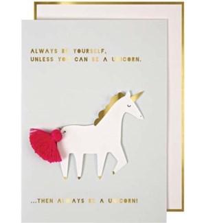 Unicorn Greeting Card-15-3461L