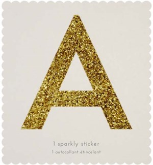 Chunky Gold Glitter A Sticker-61-0001