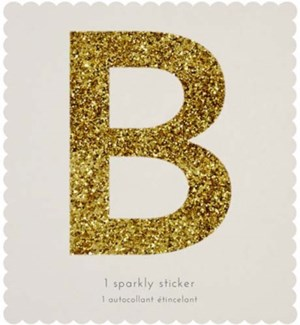Chunky Gold Glitter B Sticker-61-0002
