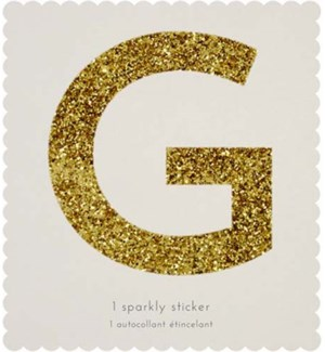 Chunky Gold Glitter G Sticker-61-0007