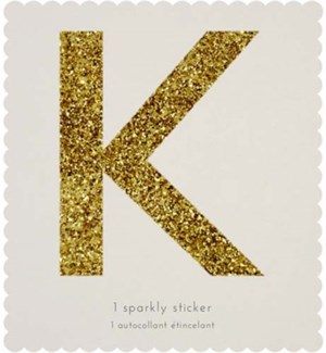 Chunky Gold Glitter K Sticker-61-0011