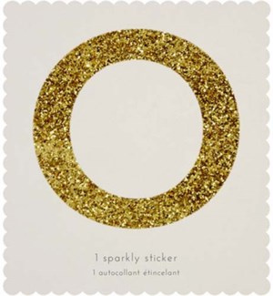 Chunky Gold Glitter O Sticker-61-0015