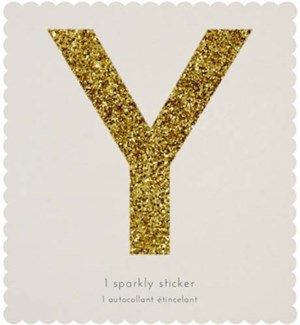 Chunky Gold Glitter Y Sticker-61-0025