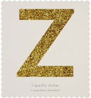Chunky Gold Glitter Z Sticker-61-0026