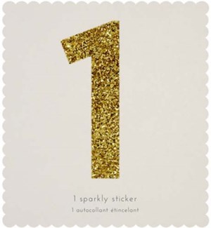 Chunky Gold Glitter 1 Sticker-61-0027