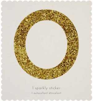 Chunky Gold Glitter 0 Sticker-61-0036